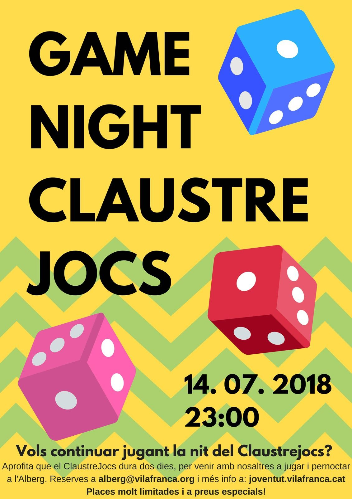 Game Night Claustre Jocs