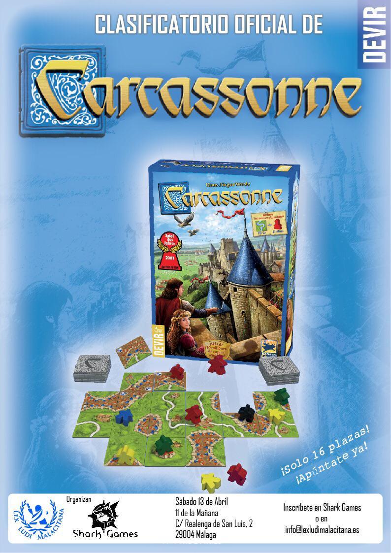 Torneo de Carcassonne Lex Ludi Malacitana y Shark Games