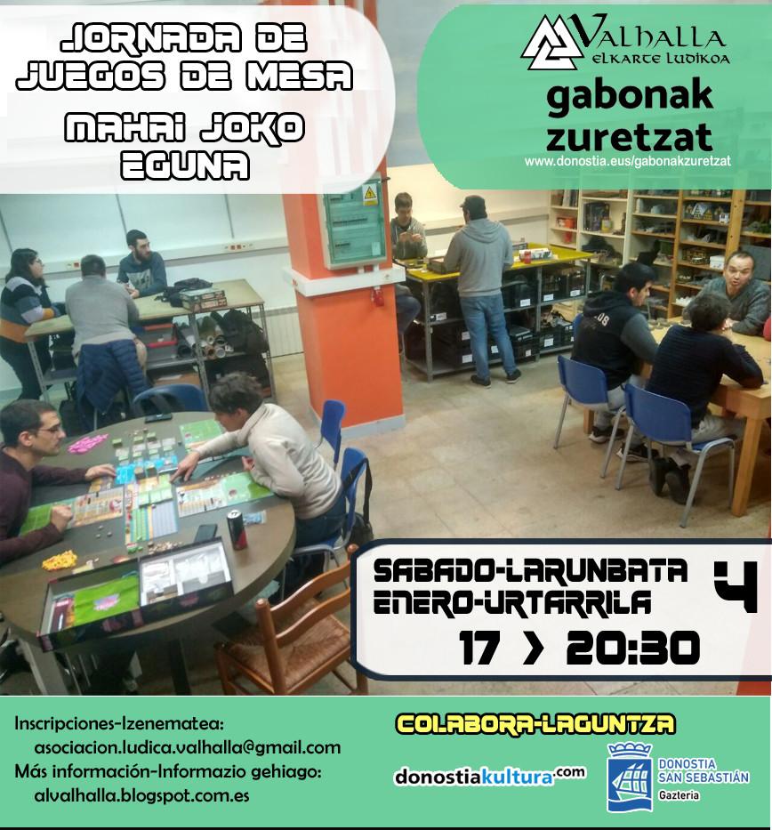 Jornada Juegos de Mesa Valhalla Elkarte Ludikoa